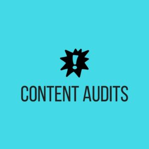 """Click to reach """"content audits"""" section of Seed Copywriting website"""