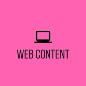 "Click to reach ""web content"" section of Seed Copywriting website"