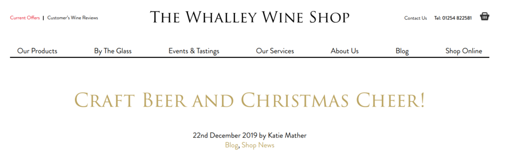 Blog Post Whalley Wine Shop